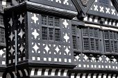 image of manor  - Traditional Tudor period timber framed black and white manor house in Stockport - JPG