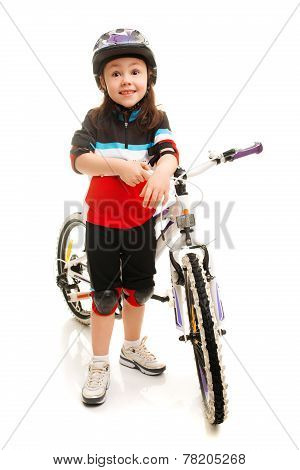 Little Girl And Bicycle