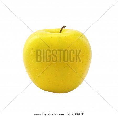 Yellow-green Apple On A White Background
