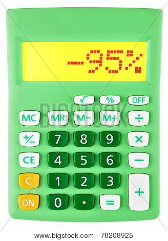 Calculator With -95 On Display