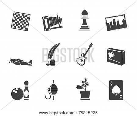 Silhouette Hobby, Leisure and Holiday Icons