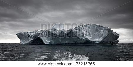 Huge iceberg in Antarctica, beautiful winter background