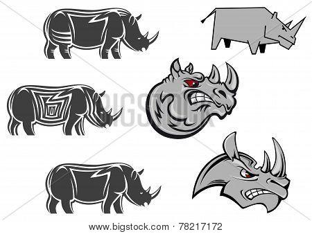 African rhinoceros  characters