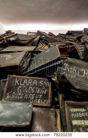 Bags Of Victims In Auschwitz