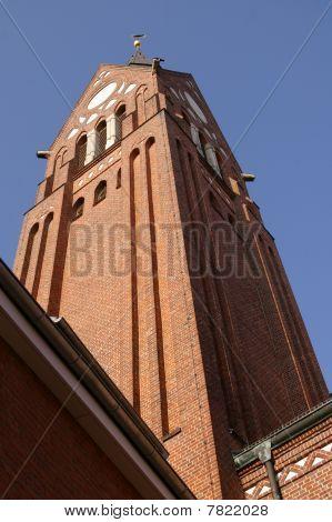 St.Willehad brickstone church tower