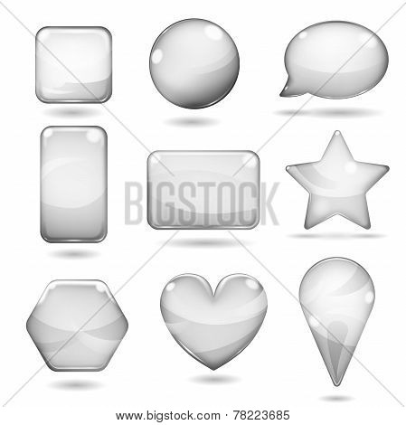 Opaque Gray Glass Shapes