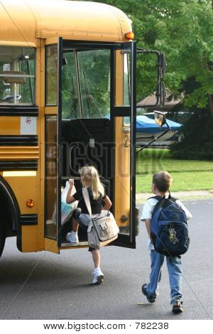 Kids Getting on Bus