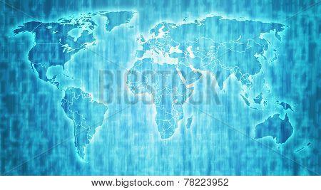 French Guiana Territory On World Map
