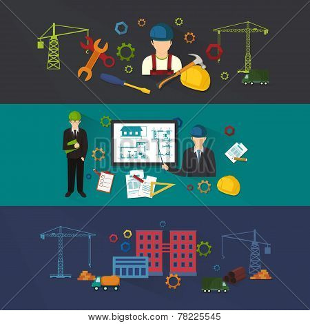 Engineer construction industrial factory manufacturing workers