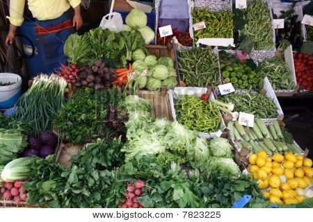 Street Market Vegetables
