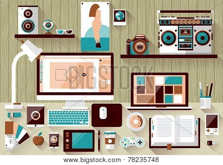 Flat Design Vector Illustration Concept