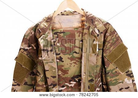 Uniforms khaki isolated on white