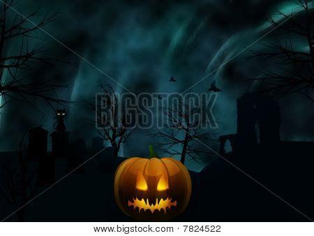 Halloween Background And Eerie Sky