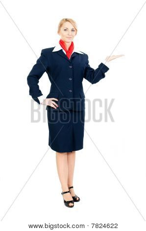 Stewardess Showing Something