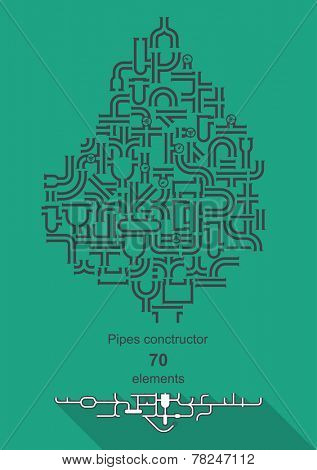 Pipe constructor - 70 elements for your design
