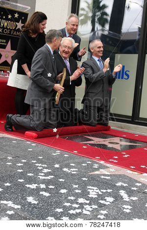 LOS ANGELES - DEC 11:  Don Mischer, Chamber officials, councilmen at the Don Mischer Star on the Hollywood Walk of Fame at the Hollywood Boulevard on December 11, 2014 in Los Angeles, CA