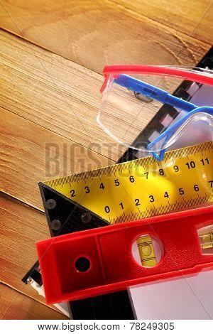 Angle Ruler, Balance Level And Goggles