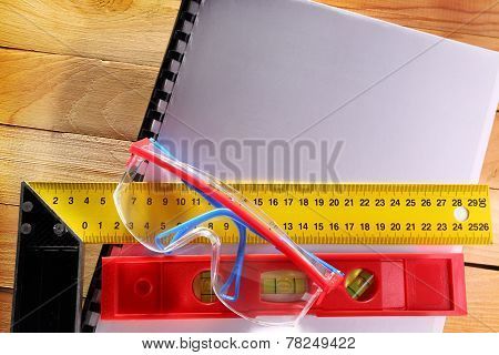 Angle Ruler, Balance Level And Goggles