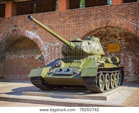 Soviet T-34 Tank, Outdoor Exhibition, N.novgorod, Russia