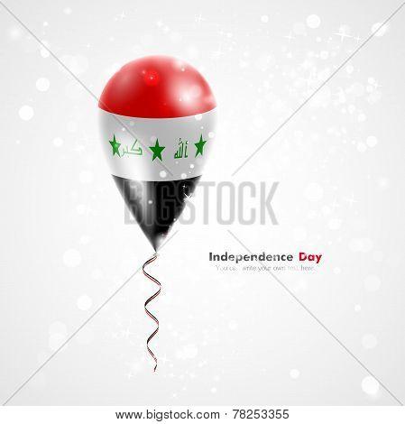 Flag of Iraq on balloon