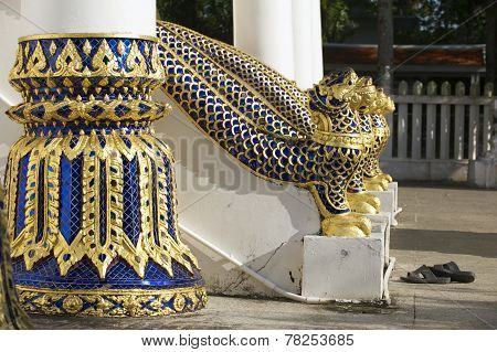 Entance to the Phra Mahathat Vihan in Nakhon Sri Thammarat, Thailand.