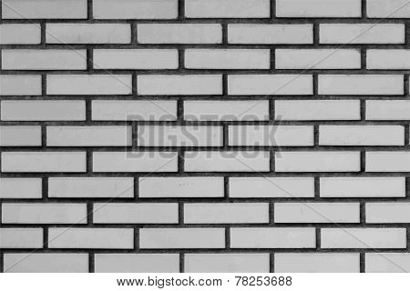 Greyscale Brick wall pattern vector