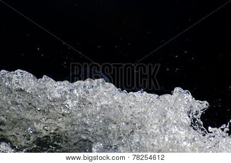 Nature Abstract - Bubble Rising Over Splashing Water