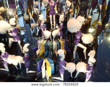 Christmas Decoration In The Windows Of Galeries Lafayette Department Store