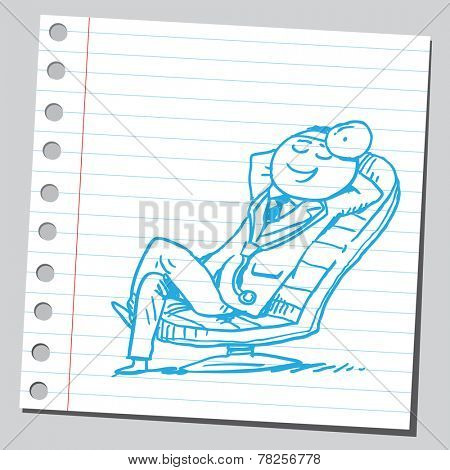 Doctor resting in chair