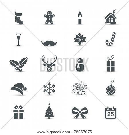 Holiday Icons set (Christmas and New Year)