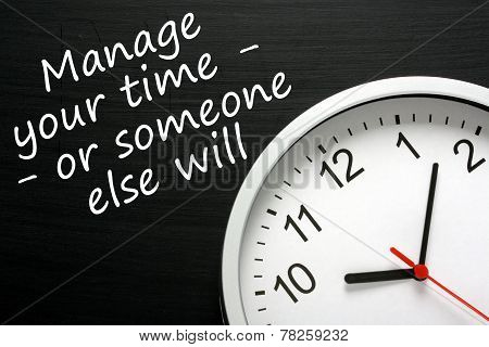 Manage Your Own Time