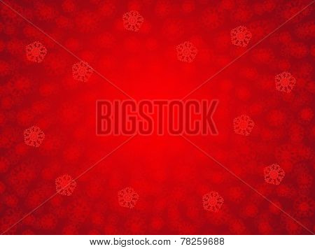 Red Holiday Snowflake Background