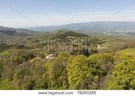 Landscapes of Tuscany. View from Mount Verna. Italy.