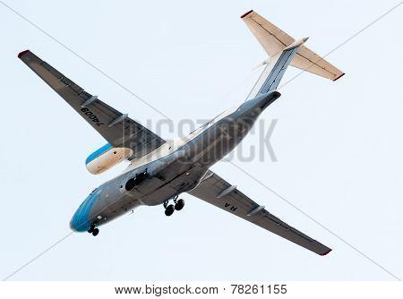 Flying AN-74 of Utair Cargo company