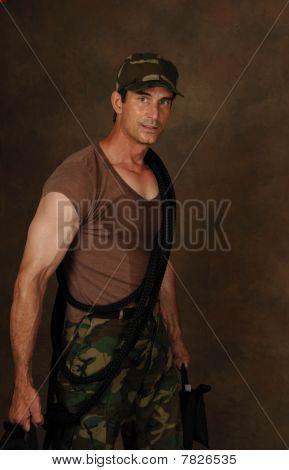 Army Guy Hard at Work
