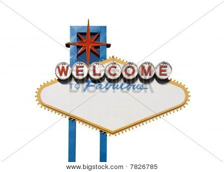 Welcome Sign Isolation
