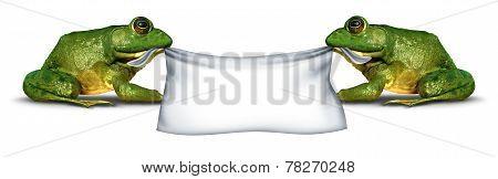 Frog Banner Sign