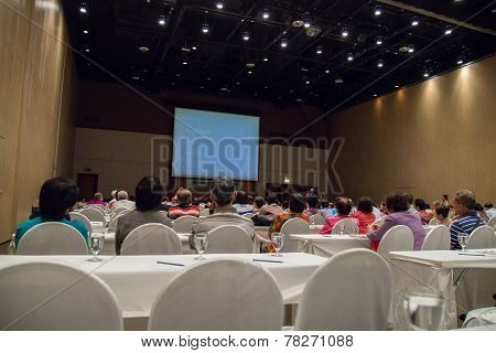 Asian People Participate In The Seminar