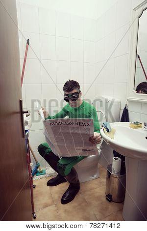 Superhero On A Toilet