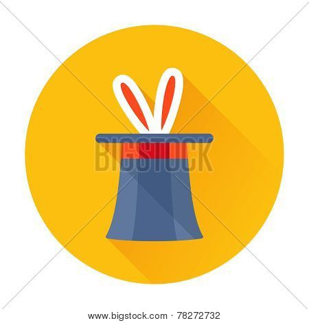 magician hat with rabbit ears icon