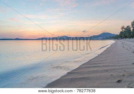 Morning At Bophut Beach Samui Island Thailand