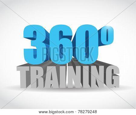 360 Training Sign Illustration Design