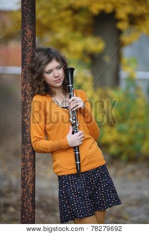 The Girl With The Clarinet In His Hands