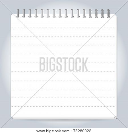 Blank notepad notebook isolated on white vector.