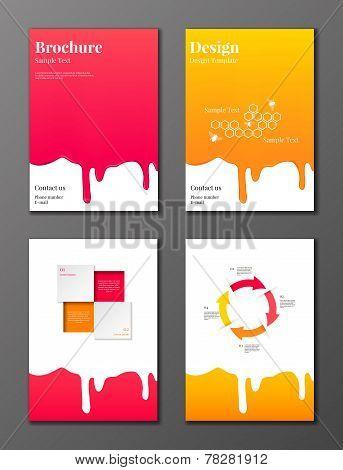 Flowing syrup brochures set