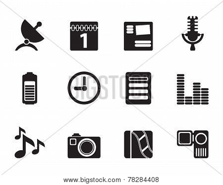 Silhouette Mobile phone performance icons