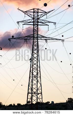 High Voltage Electric Transmission Tower