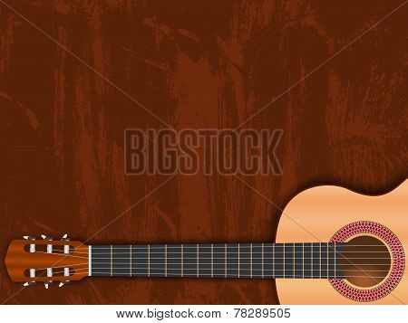 music background, guitar illustration
