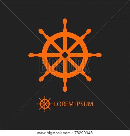 Orange Helm As Logo On Black