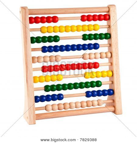 Abacus With Bright Colored Beads